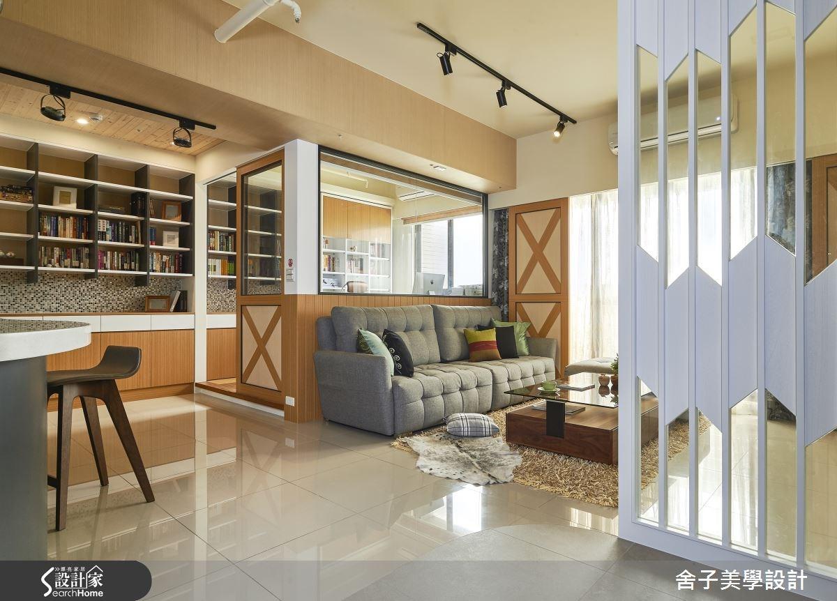 30坪新成屋(5年以下)_休閒風客廳案例圖片_舍子美學設計_舍子美學_37之3