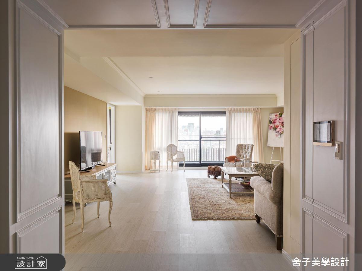 60坪新成屋(5年以下)_美式風客廳案例圖片_舍子美學設計_舍子美學_44之1