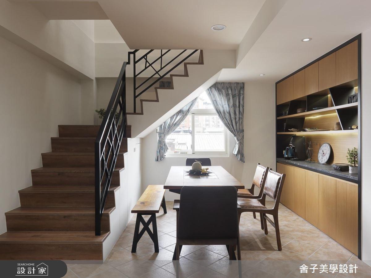 74坪老屋(16~30年)_混搭風餐廳樓梯案例圖片_舍子美學設計_舍子美學_45之66
