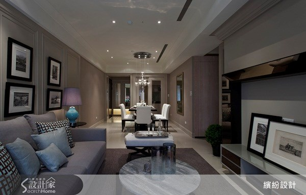 26坪新成屋(5年以下)_新古典客廳案例圖片_L′atelier Fantasia 繽紛設計_繽紛_15之2