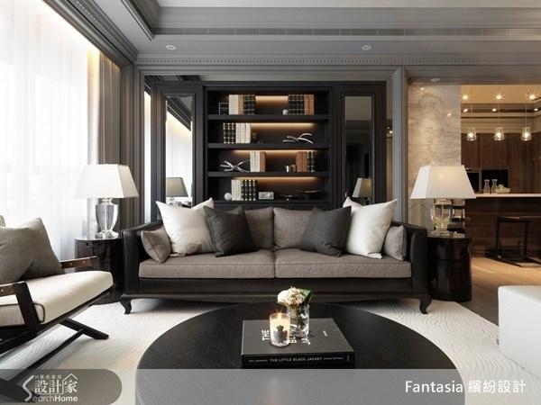 83坪新成屋(5年以下)_新古典客廳案例圖片_L′atelier Fantasia 繽紛設計_繽紛_19之5