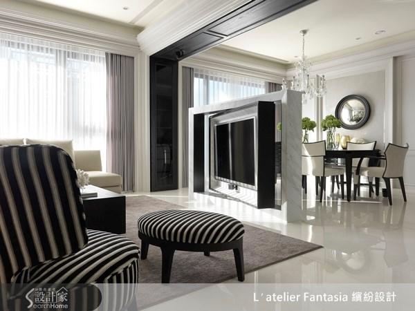 45坪新成屋(5年以下)_新古典客廳案例圖片_L′atelier Fantasia 繽紛設計_繽紛_22之2