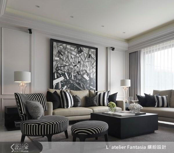 45坪新成屋(5年以下)_新古典客廳案例圖片_L′atelier Fantasia 繽紛設計_繽紛_22之1