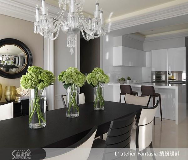 45坪新成屋(5年以下)_新古典餐廳案例圖片_L′atelier Fantasia 繽紛設計_繽紛_22之4