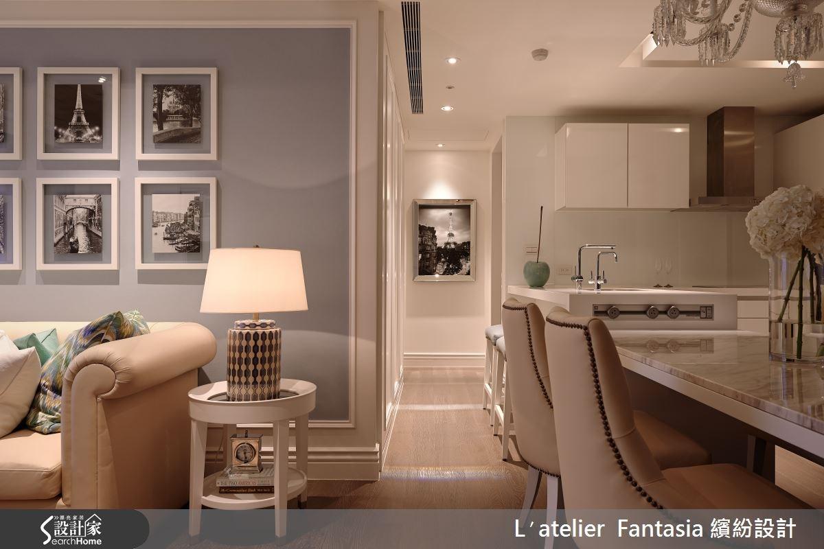 25坪新成屋(5年以下)_新古典客廳案例圖片_L′atelier Fantasia 繽紛設計_繽紛_26之1