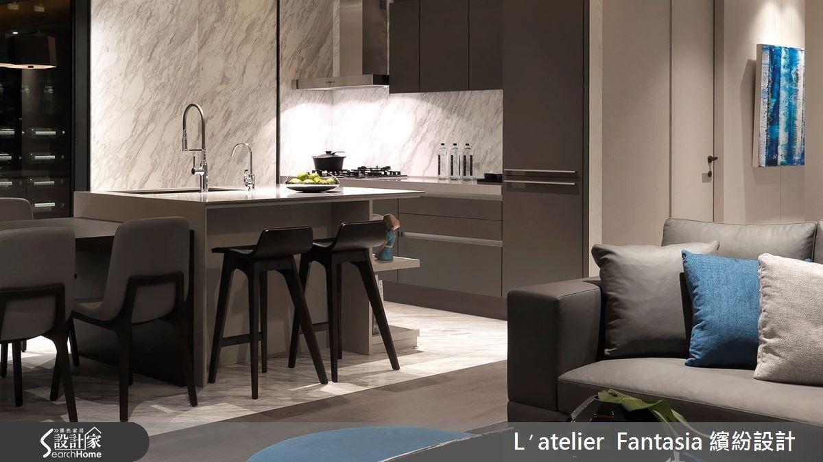 36坪新成屋(5年以下)_現代風餐廳案例圖片_L′atelier Fantasia 繽紛設計_繽紛_28之2