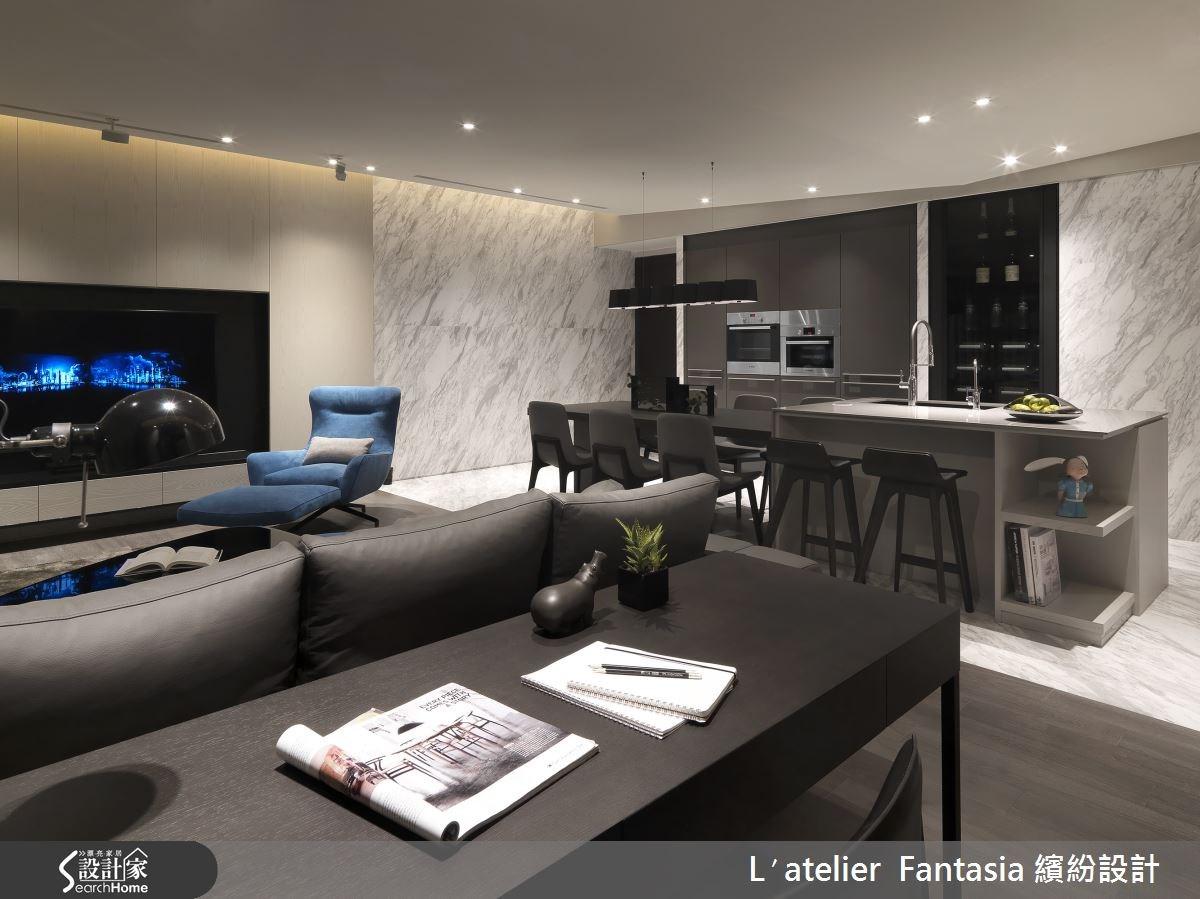 36坪新成屋(5年以下)_現代風客廳案例圖片_L′atelier Fantasia 繽紛設計_繽紛_28之3