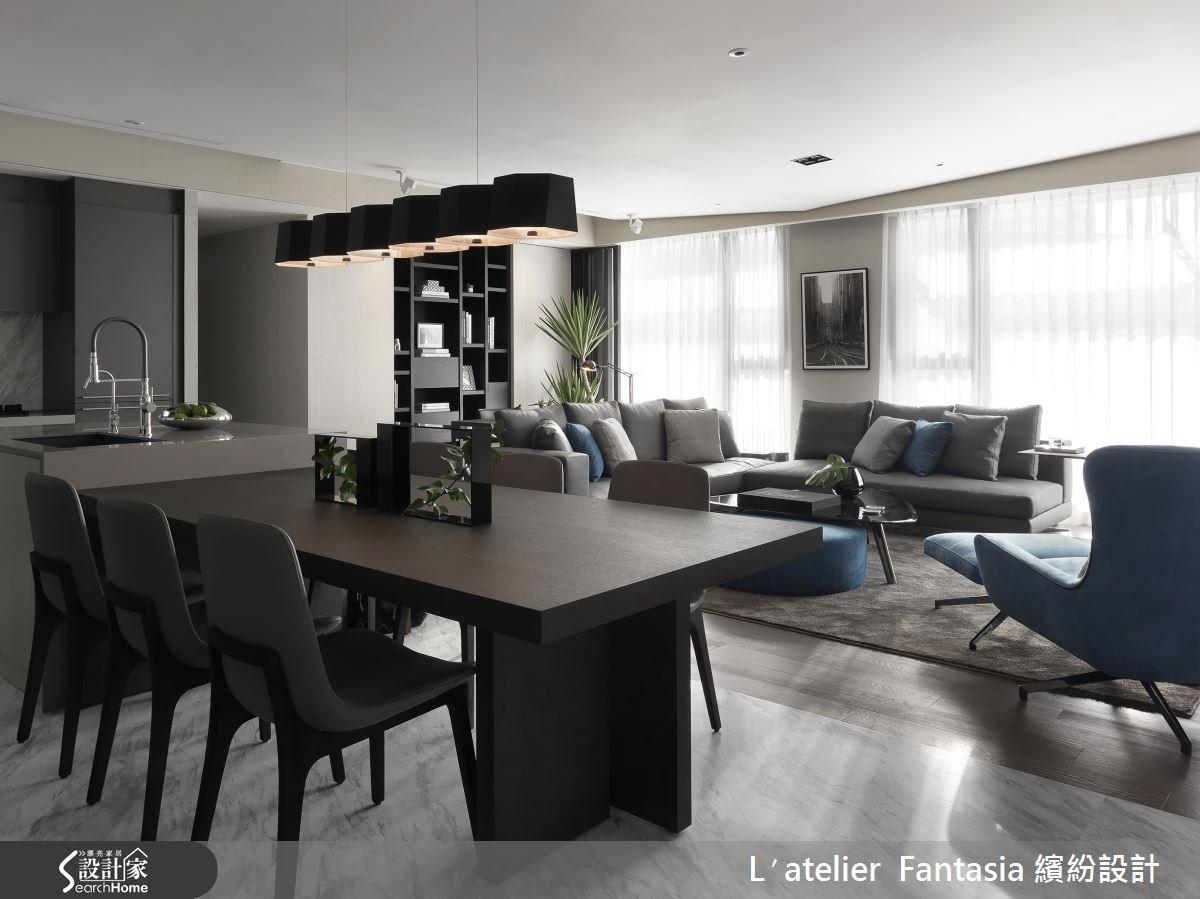 36坪新成屋(5年以下)_現代風餐廳案例圖片_L′atelier Fantasia 繽紛設計_繽紛_28之4