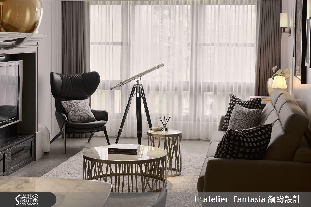 35坪中古屋(5~15年)_新古典客廳案例圖片_L′atelier Fantasia 繽紛設計_繽紛_36之3