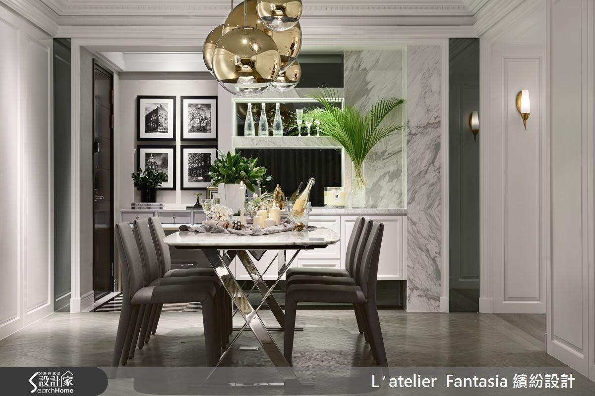 35坪中古屋(5~15年)_新古典餐廳案例圖片_L′atelier Fantasia 繽紛設計_繽紛_36之4