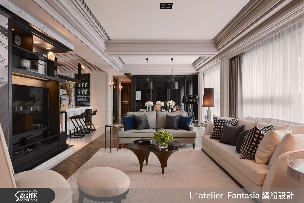 53坪新成屋(5年以下)_新古典客廳案例圖片_L′atelier Fantasia 繽紛設計_繽紛_37之2