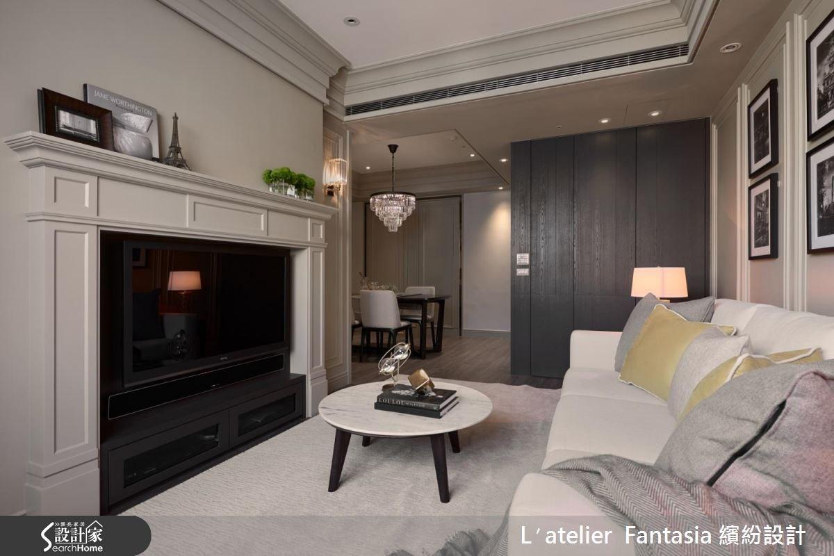 22坪新成屋(5年以下)_奢華風客廳案例圖片_L′atelier Fantasia 繽紛設計_繽紛_38之3
