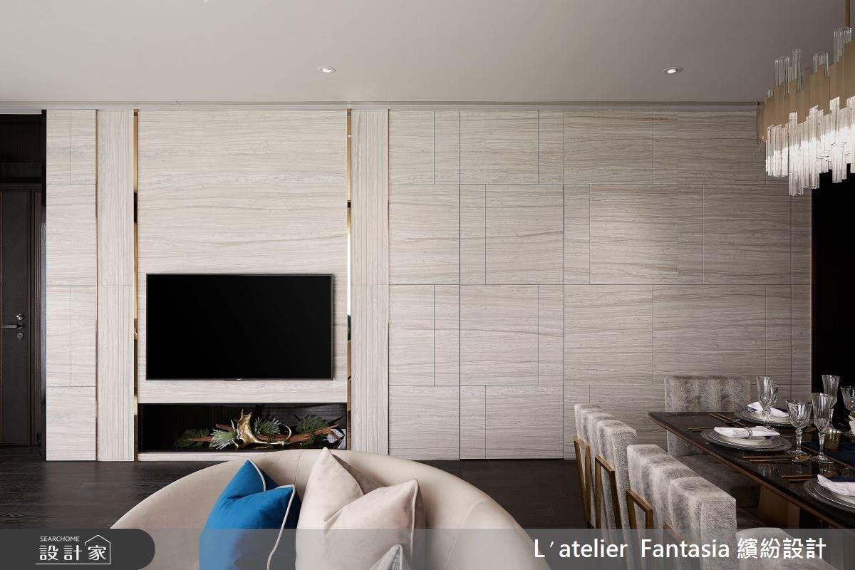 46坪新成屋(5年以下)_新古典客廳案例圖片_L′atelier Fantasia 繽紛設計_繽紛_44之1