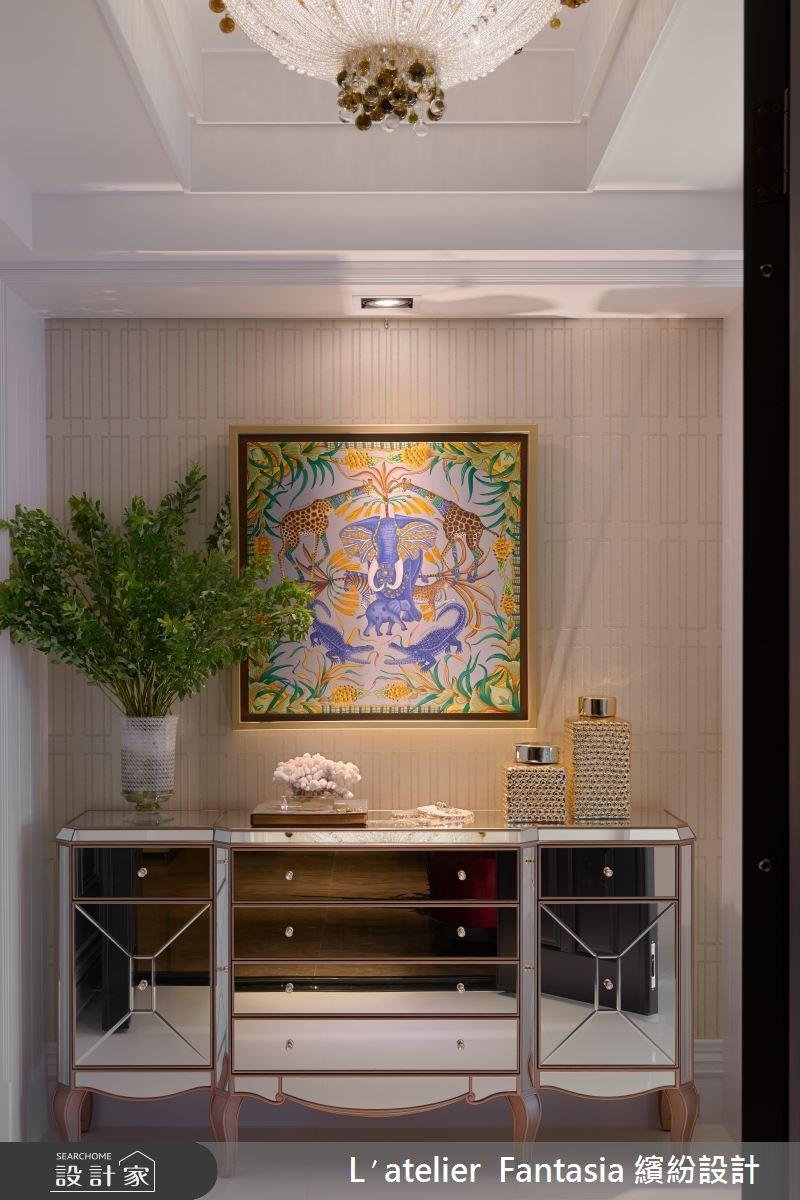 60坪新成屋(5年以下)_新古典玄關案例圖片_L′atelier Fantasia 繽紛設計_繽紛_45之3