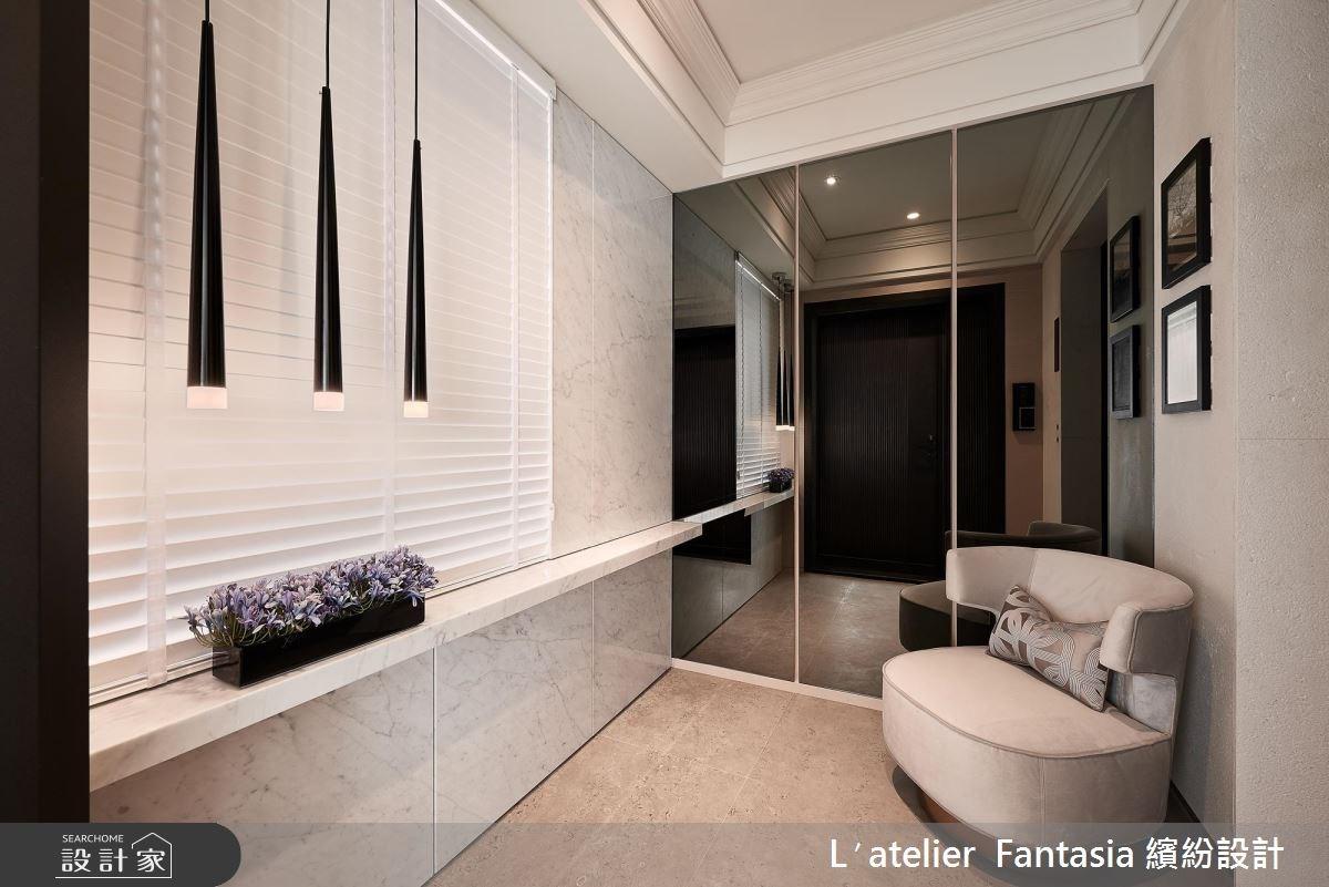 40坪新成屋(5年以下)_新古典玄關案例圖片_L′atelier Fantasia 繽紛設計_繽紛_51之2