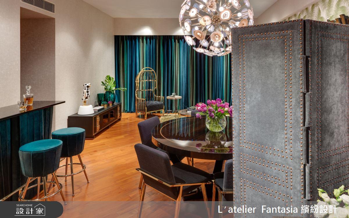 38坪新成屋(5年以下)_奢華風餐廳吧檯案例圖片_L′atelier Fantasia 繽紛設計_繽紛_60之6