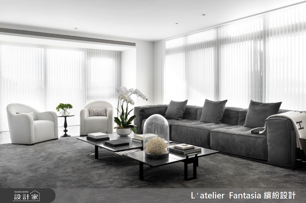 129坪新成屋(5年以下)_奢華風客廳案例圖片_L′atelier Fantasia 繽紛設計_繽紛_67之3