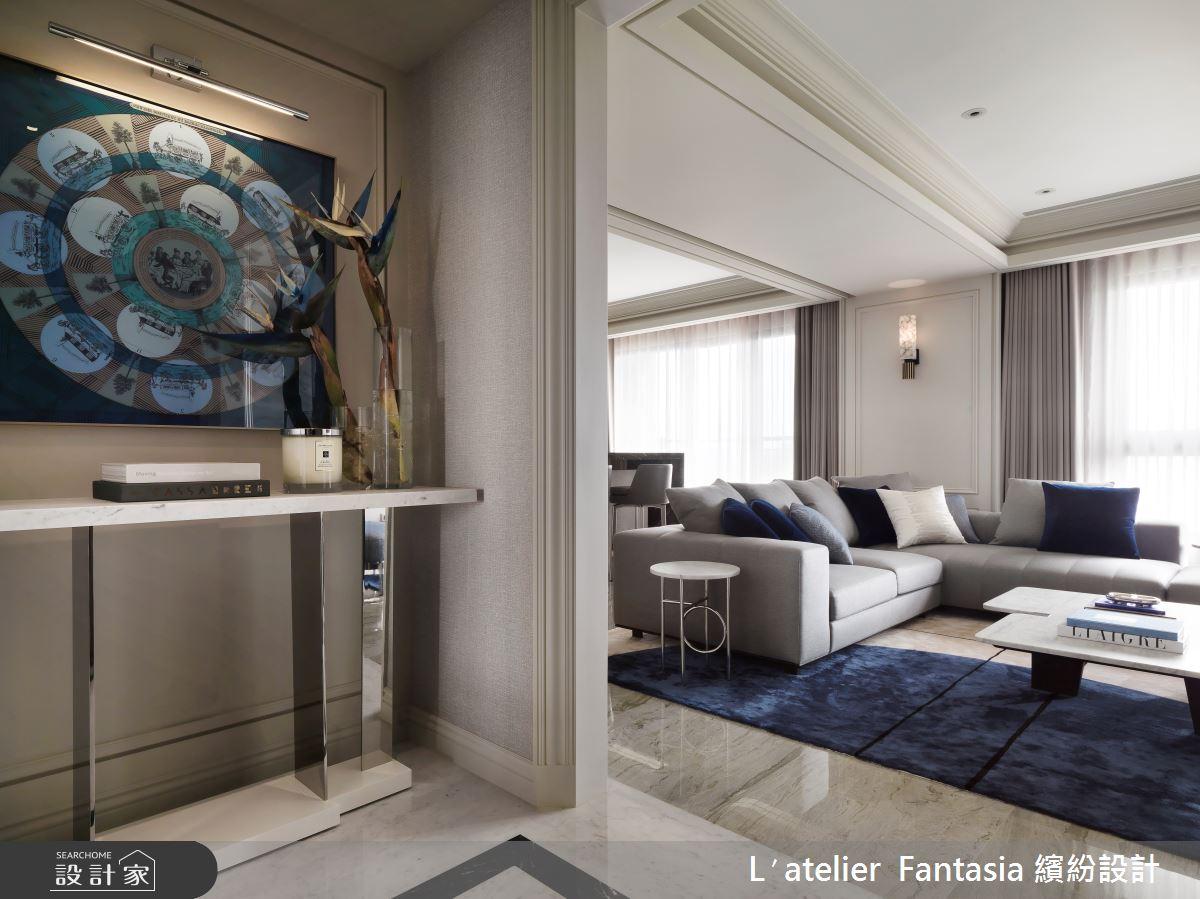 60坪新成屋(5年以下)_新古典玄關客廳案例圖片_L′atelier Fantasia 繽紛設計_繽紛_71之2