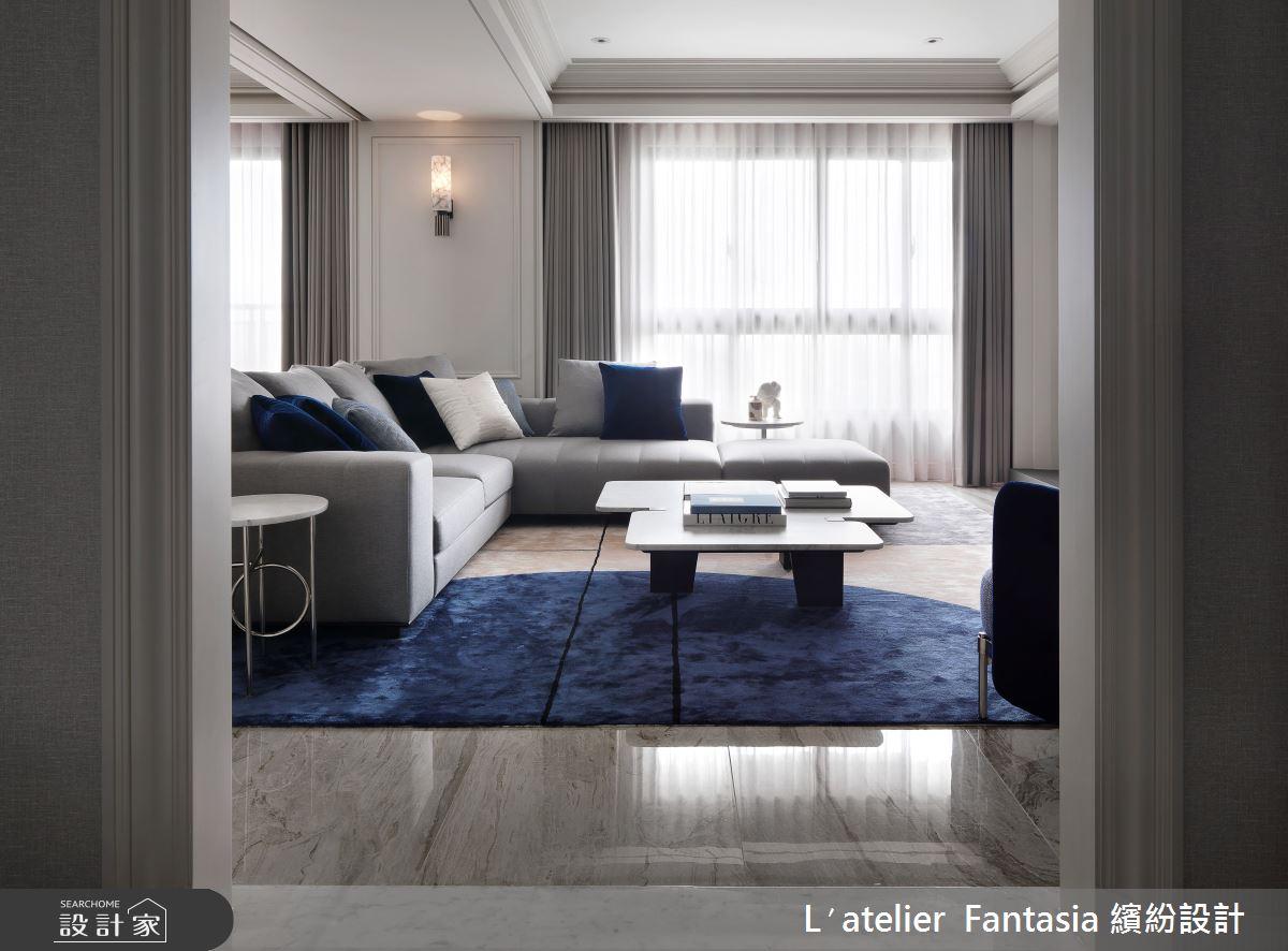 60坪新成屋(5年以下)_新古典客廳案例圖片_L′atelier Fantasia 繽紛設計_繽紛_71之3