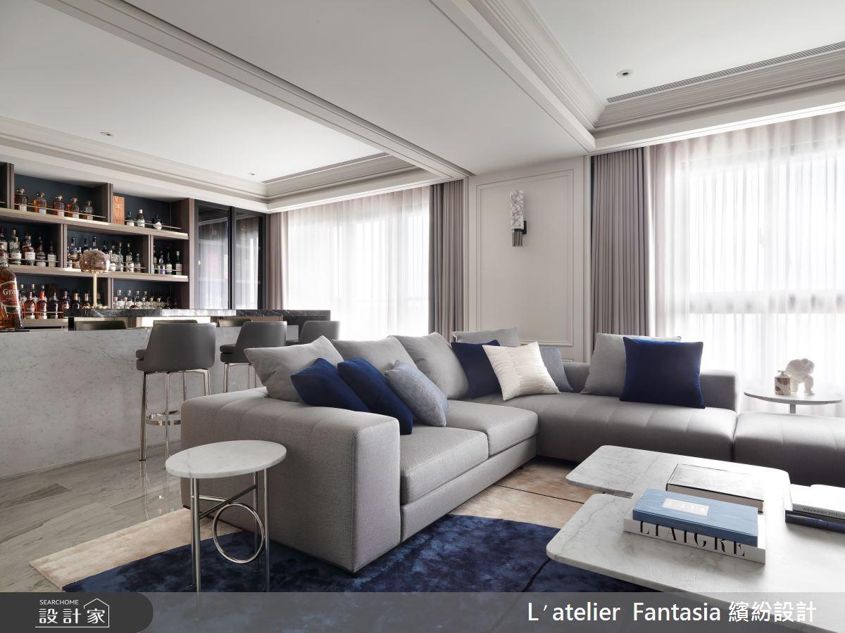 60坪新成屋(5年以下)_新古典客廳案例圖片_L′atelier Fantasia 繽紛設計_繽紛_71之5