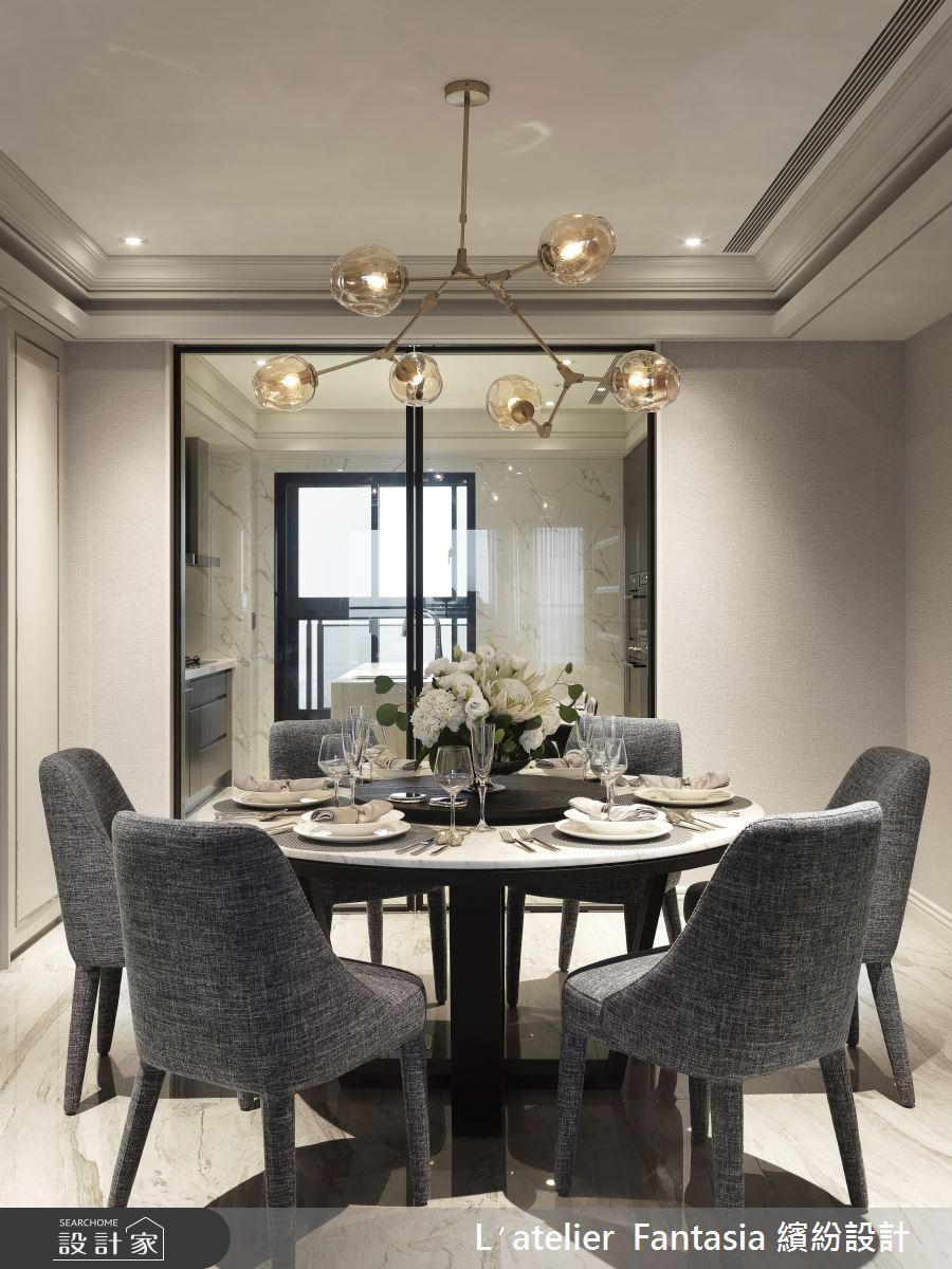 60坪新成屋(5年以下)_新古典餐廳案例圖片_L′atelier Fantasia 繽紛設計_繽紛_71之18