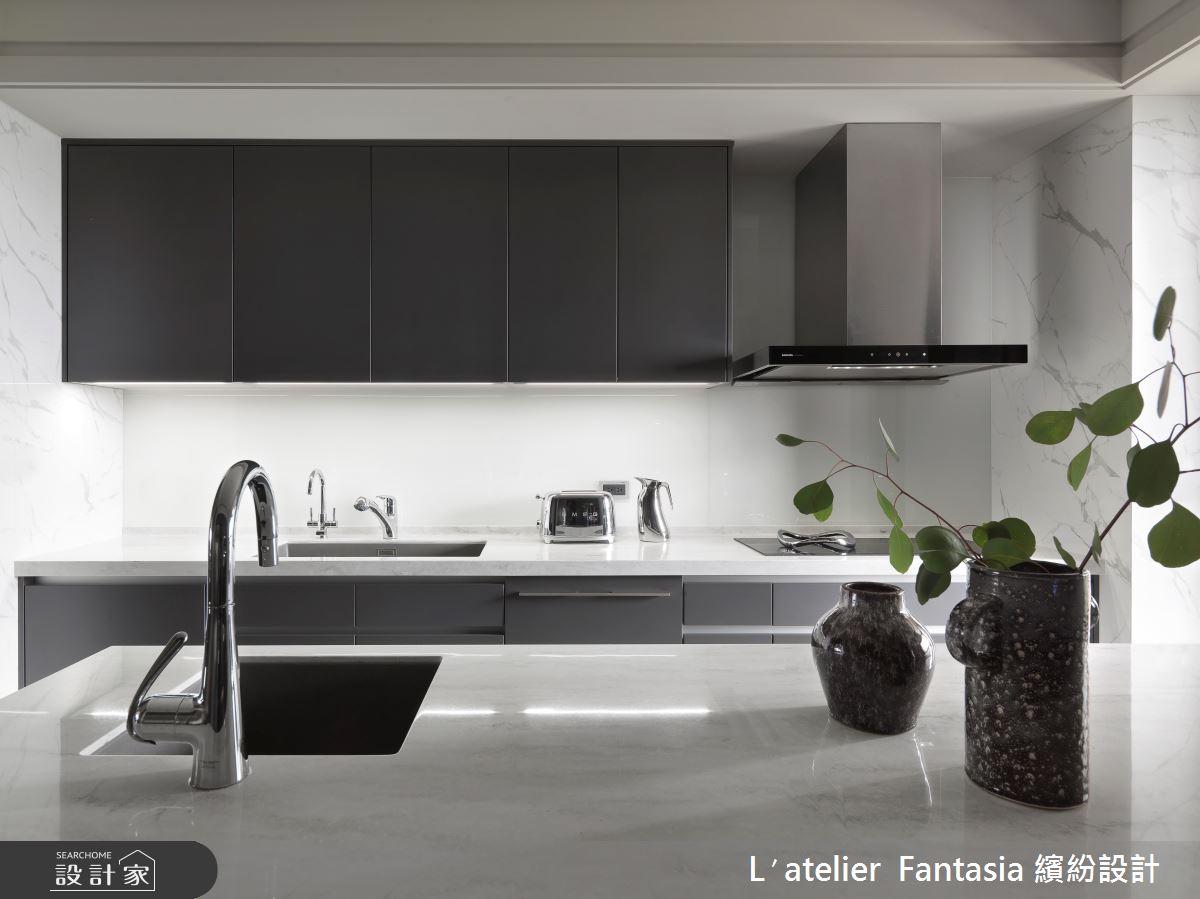 60坪新成屋(5年以下)_新古典廚房中島案例圖片_L′atelier Fantasia 繽紛設計_繽紛_71之19