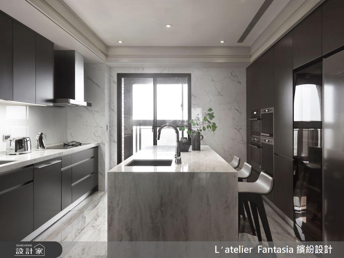 60坪新成屋(5年以下)_新古典廚房中島案例圖片_L′atelier Fantasia 繽紛設計_繽紛_71之20