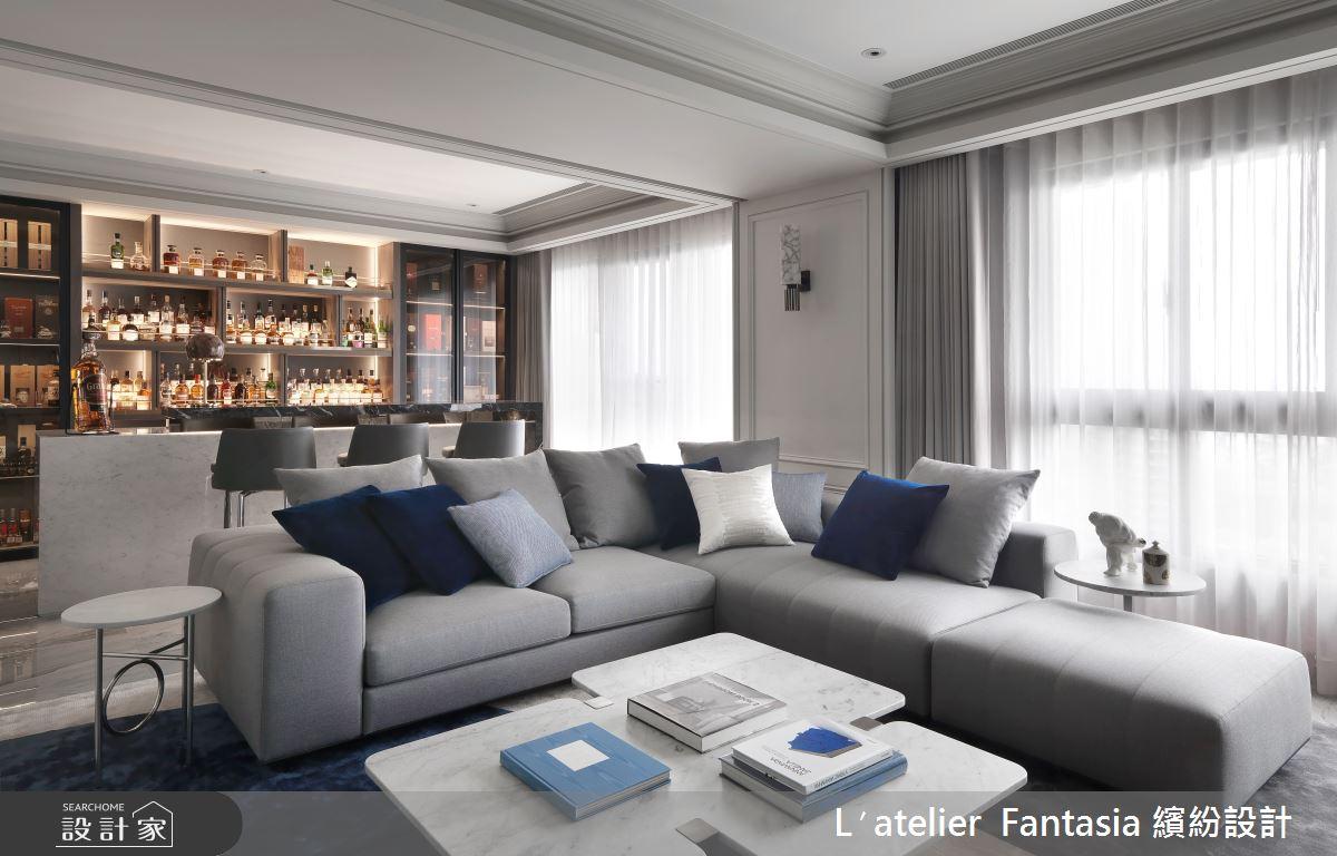 60坪新成屋(5年以下)_新古典客廳案例圖片_L′atelier Fantasia 繽紛設計_繽紛_71之6
