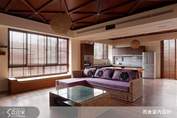 70坪新成屋(5年以下)_休閒風客廳案例圖片_邑舍室內設計_邑舍_04之2