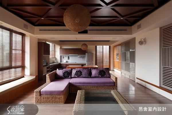 70坪新成屋(5年以下)_休閒風客廳案例圖片_邑舍室內設計_邑舍_04之3
