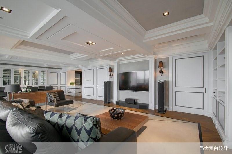 130坪新成屋(5年以下)_新古典客廳案例圖片_邑舍室內設計_邑舍_05之2