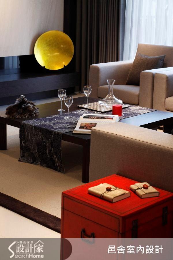 32坪新成屋(5年以下)_現代風客廳案例圖片_邑舍室內設計_邑舍_10之2