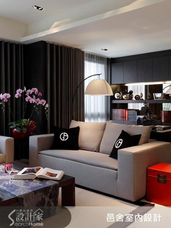 32坪新成屋(5年以下)_現代風客廳案例圖片_邑舍室內設計_邑舍_10之1