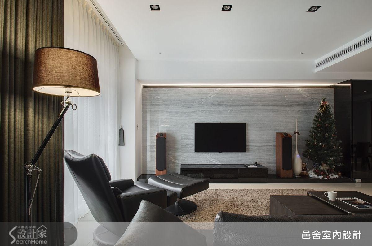 40坪新成屋(5年以下)_現代風客廳案例圖片_邑舍室內設計_邑舍_12之3