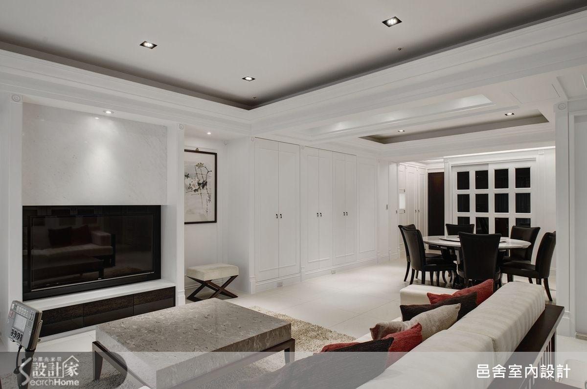 40坪新成屋(5年以下)_新古典客廳案例圖片_邑舍室內設計_邑舍_09之4