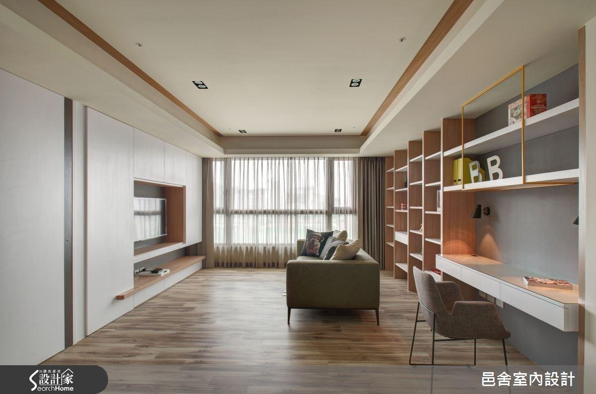 35坪新成屋(5年以下)_北歐風客廳案例圖片_邑舍室內設計_邑舍_18之1