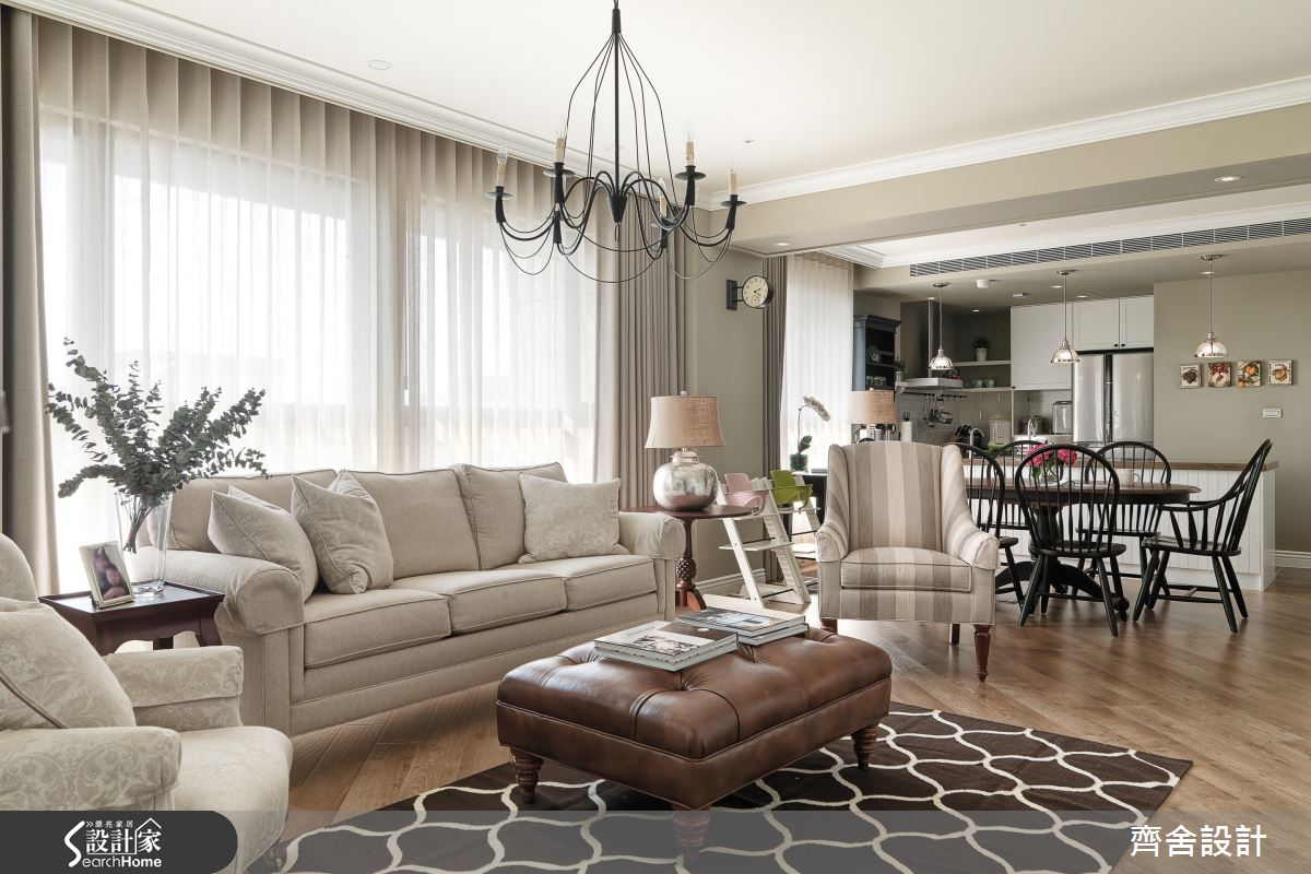 將空間和陽光串流 打造 35 坪溫馨滿點美式宅!