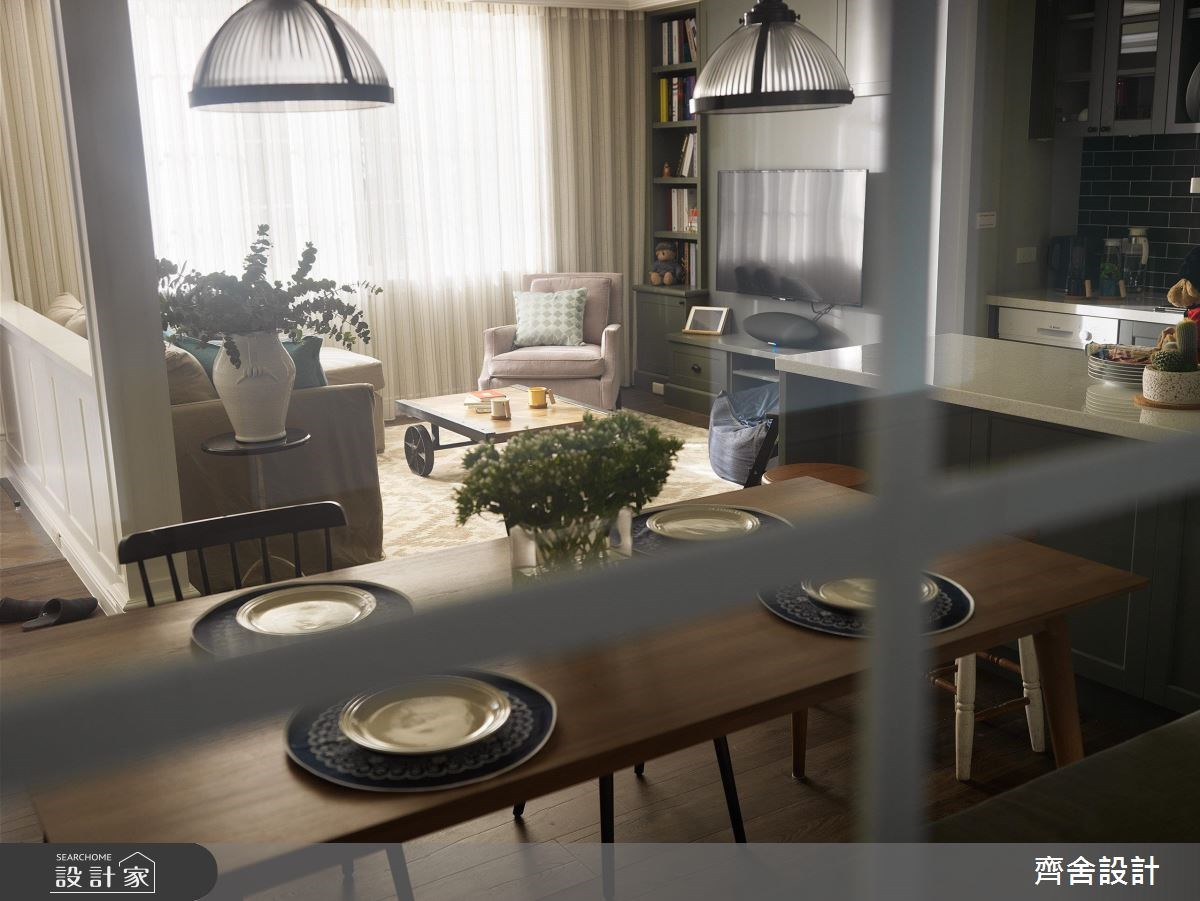 24坪中古屋(5~15年)_美式風餐廳案例圖片_齊舍設計事務所_齊舍_34之1