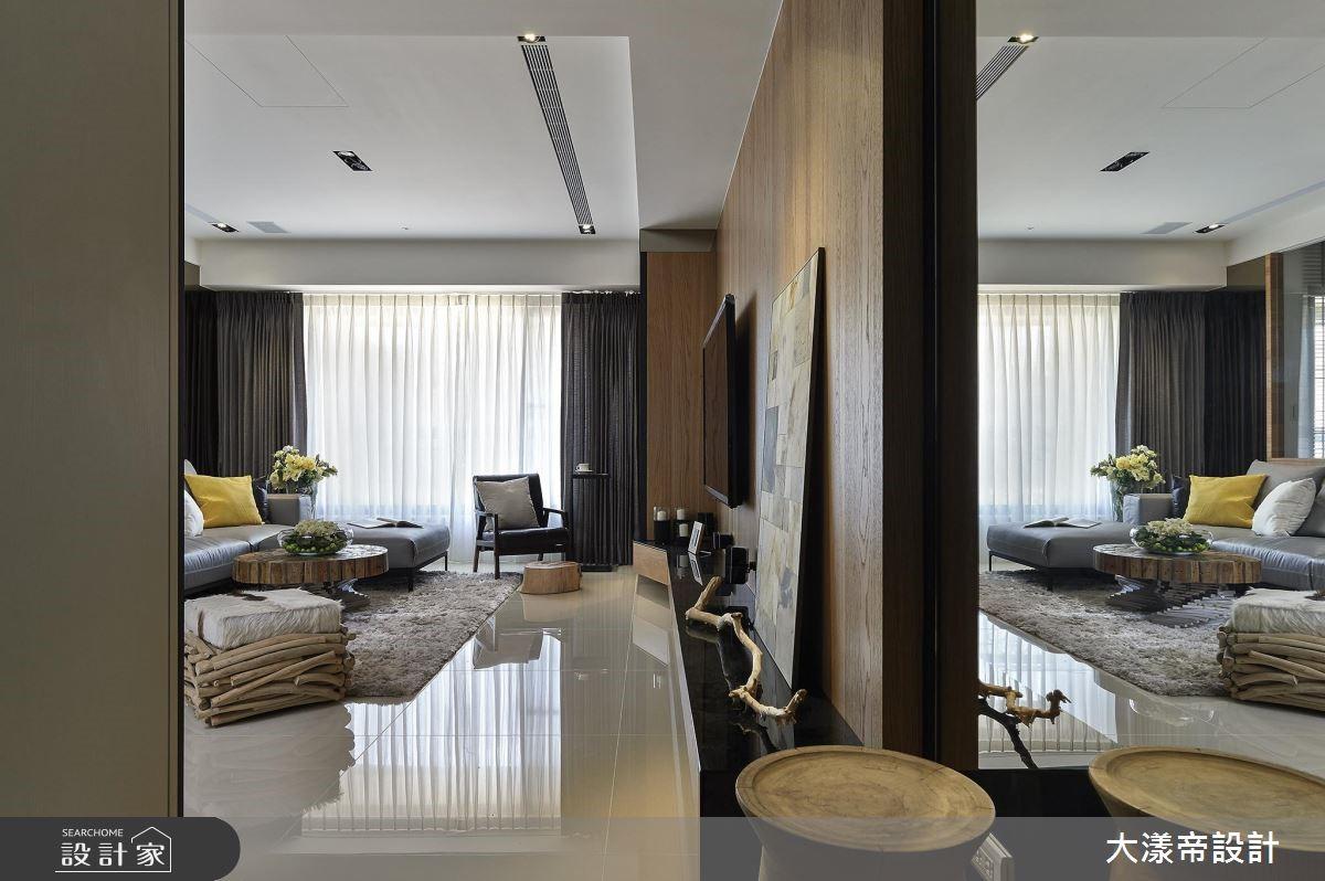42坪新成屋(5年以下)_現代風玄關客廳案例圖片_大漾帝國際室內裝修有限公司_大漾帝_23之2