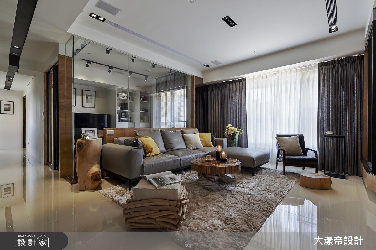 42坪新成屋(5年以下)_現代風客廳案例圖片_大漾帝國際室內裝修有限公司_大漾帝_23之3
