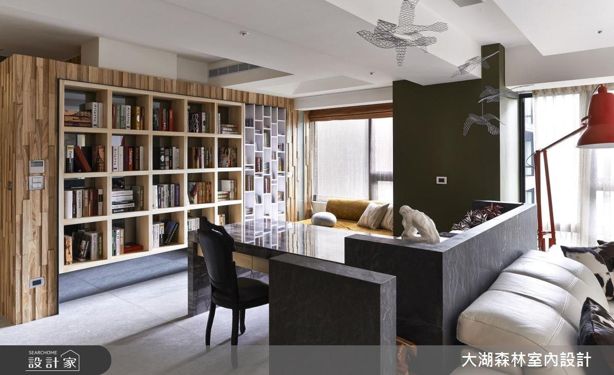 66坪新成屋(5年以下)_療癒風書房案例圖片_大湖森林室內設計_大湖森林_21之5