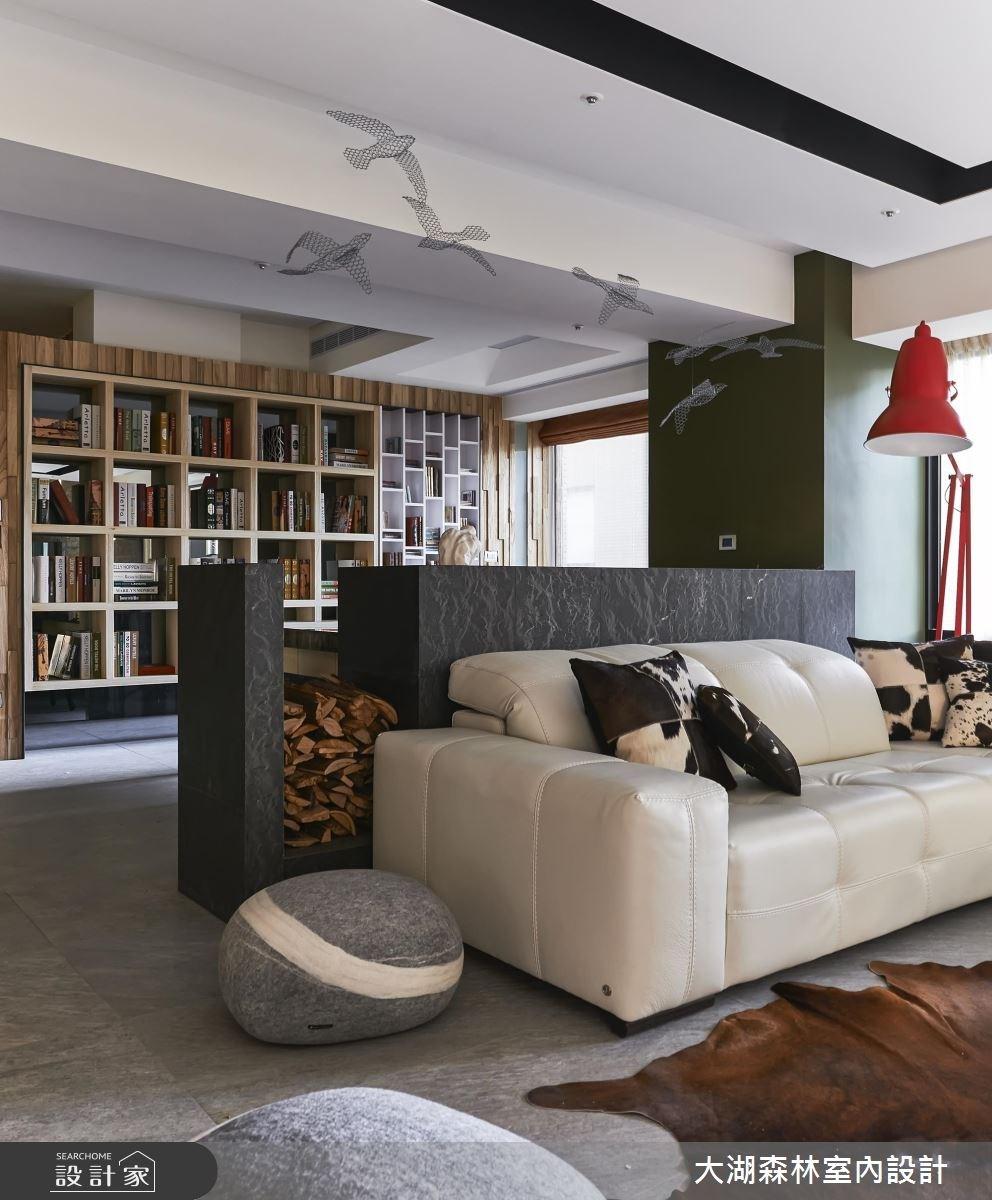 66坪新成屋(5年以下)_療癒風客廳書房案例圖片_大湖森林室內設計_大湖森林_21之6