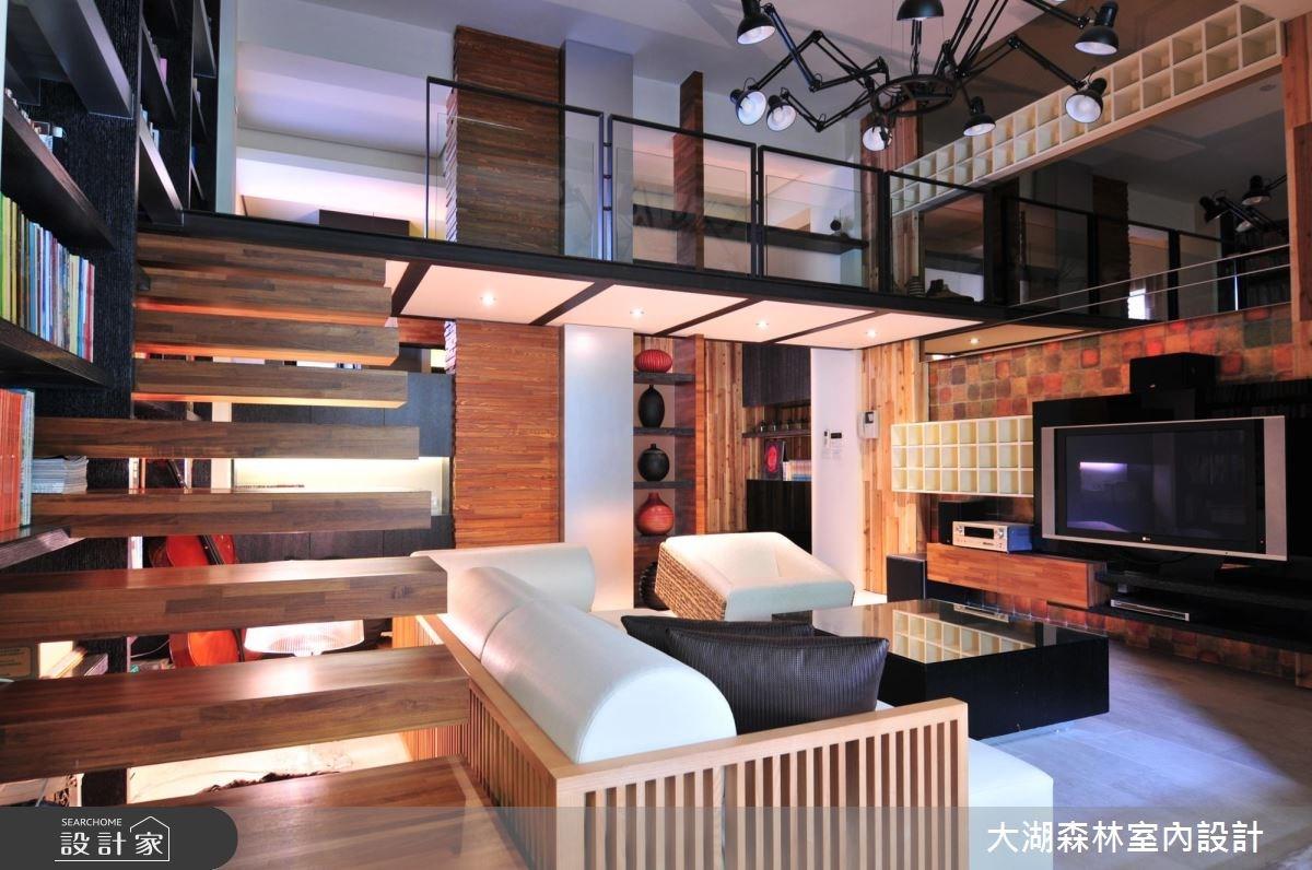 40坪中古屋(5~15年)_混搭風客廳樓梯案例圖片_大湖森林室內設計_大湖森林_10之3