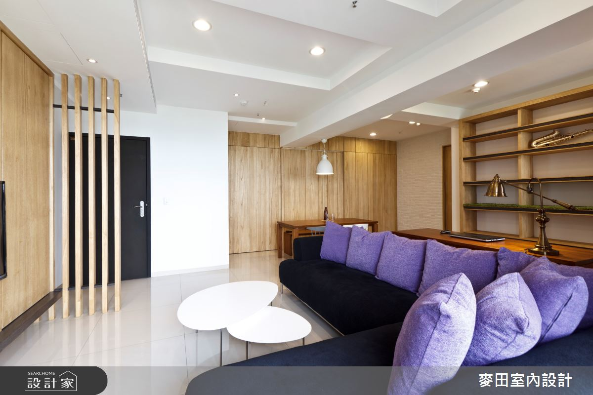 28坪新成屋(5年以下)_混搭風客廳案例圖片_麥田室內設計有限公司_麥田_02之2