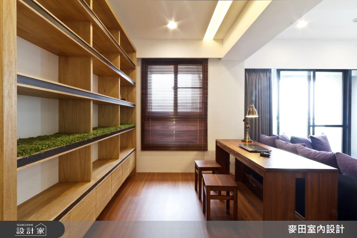 28坪新成屋(5年以下)_混搭風書房案例圖片_麥田室內設計有限公司_麥田_02之3