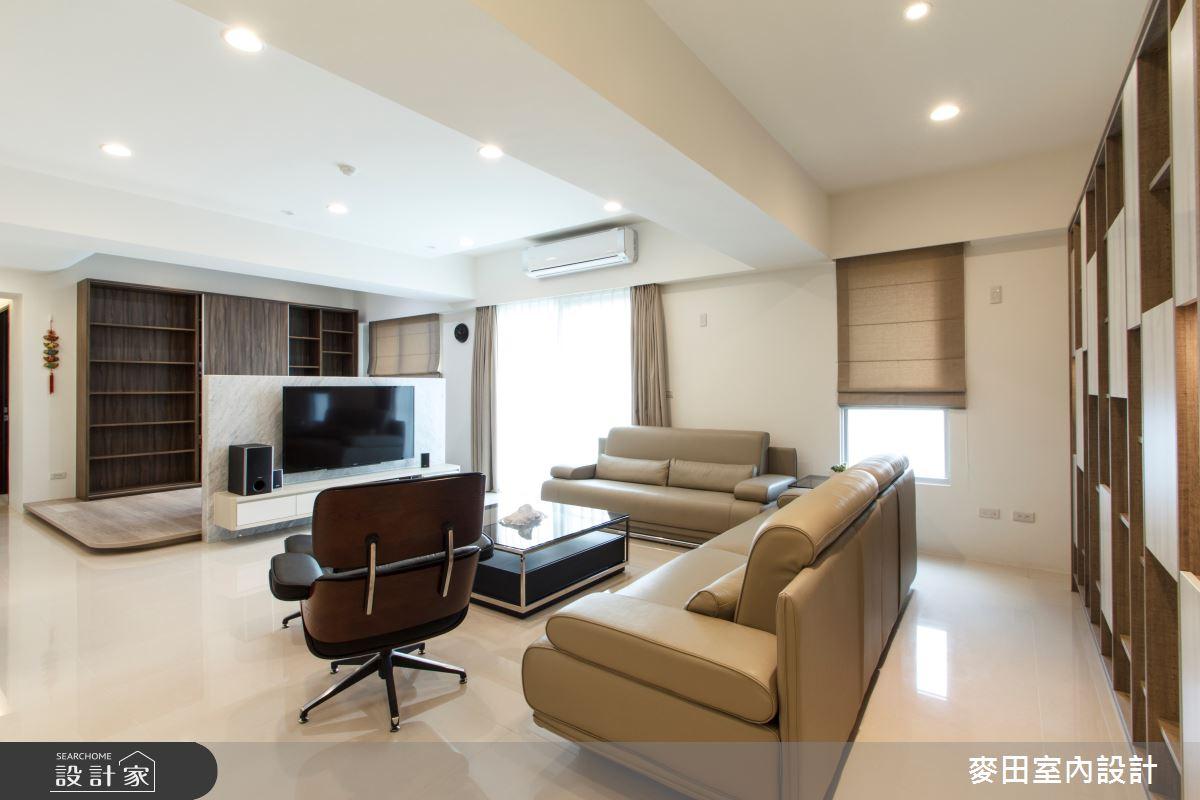 43坪新成屋(5年以下)_簡約風客廳案例圖片_麥田室內設計有限公司_麥田_10之3
