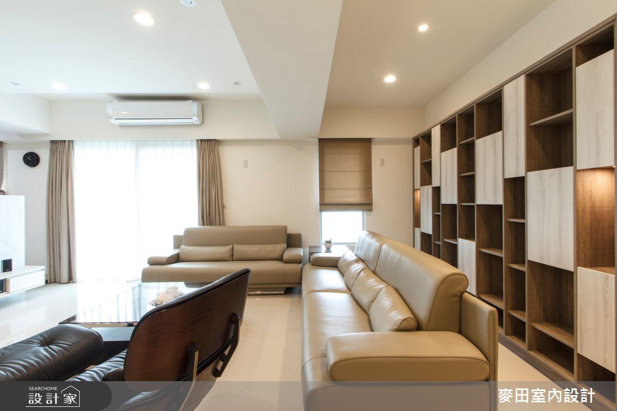 43坪新成屋(5年以下)_簡約風客廳案例圖片_麥田室內設計有限公司_麥田_10之4