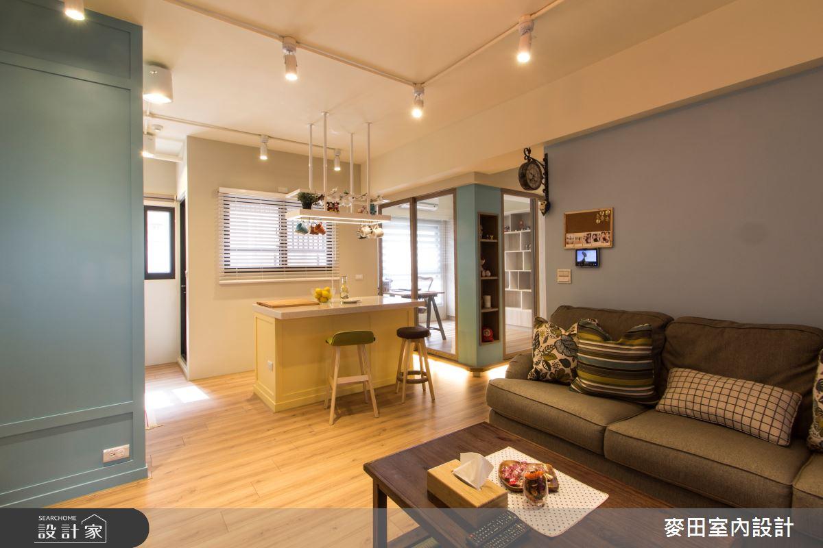 23坪新成屋(5年以下)_混搭風客廳吧檯案例圖片_麥田室內設計有限公司_麥田_11之3