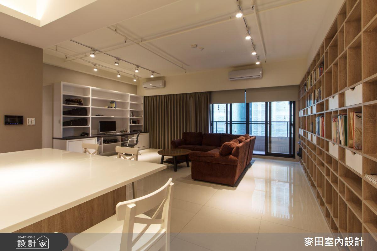 45坪新成屋(5年以下)_休閒多元玄關客廳餐廳案例圖片_麥田室內設計有限公司_麥田_14之2