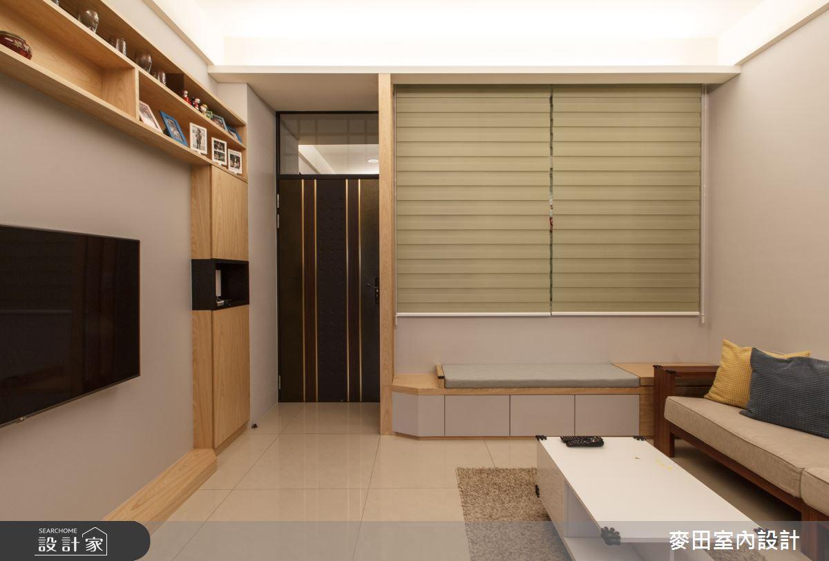 48坪新成屋(5年以下)_休閒多元客廳臥榻案例圖片_麥田室內設計有限公司_麥田_19之1